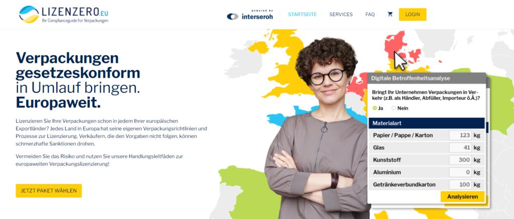 Lizenzero.EU Verpackungslizenz